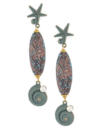 Classic Turquoise Earrings with Pearl