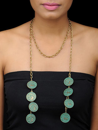 Classic Turquoise Gold Tone Necklace