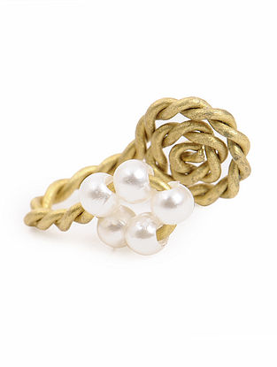 Brass Nose Clip with Pearls