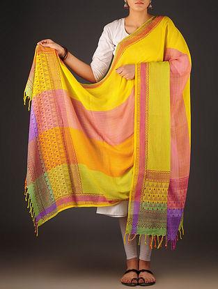 Multi-Color Uttrakhand Cotton Twill Handblock Printed Dupatta