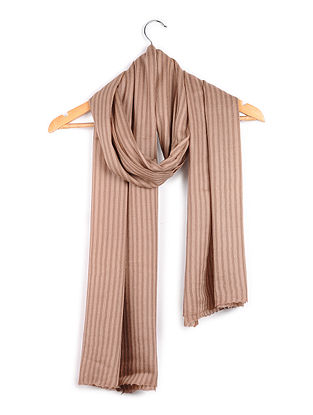 Brown Pashmina-Merino Wool Stole