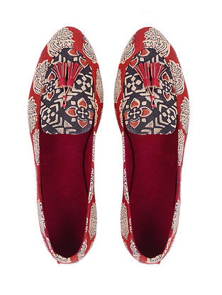 0a8b2df2c108 Buy Walk A Block Rhea s Block-printed cotton loafers and shoes for a ...