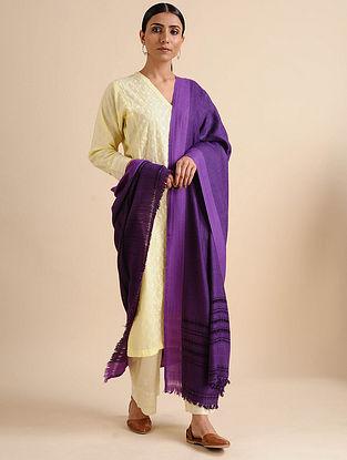 Purple Silk Wool Shawl