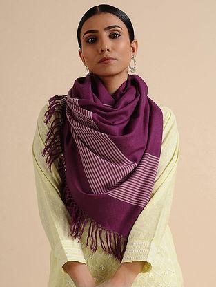 Purple Wool Stole