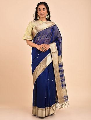 Blue Handwoven Maheshwari Saree