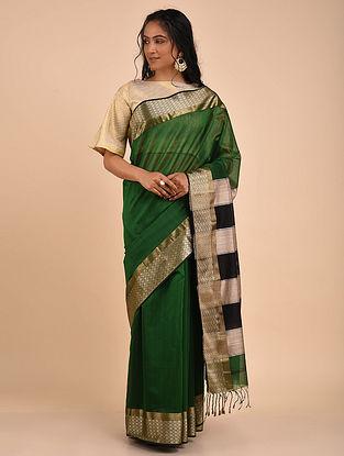Green Handwoven Maheshwari Saree