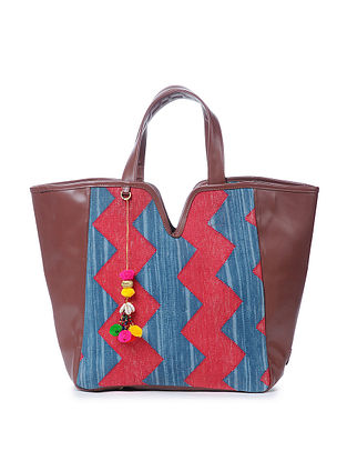 Red-Blue Cotton Kilim Tote