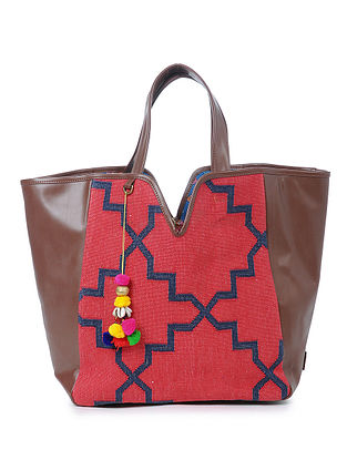 Red Cotton Kilim Tote