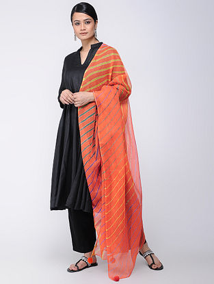 Red-Yellow Leheriya Kota Doria Dupatta