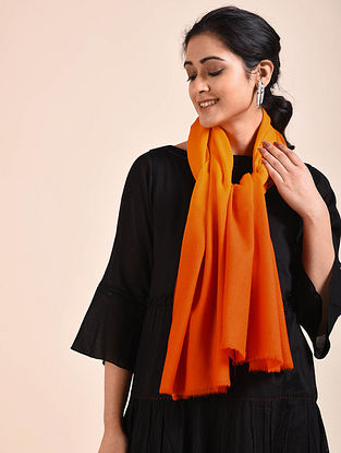 Orange Ombre Dyed Wool Stole