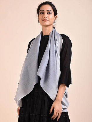Blue Ombre Dyed Wool Stole