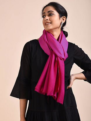 Pink Ombre Dyed Wool Stole