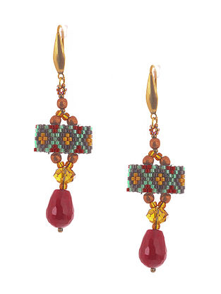 Multicolored Handcrafted Glass Beaded Earrings