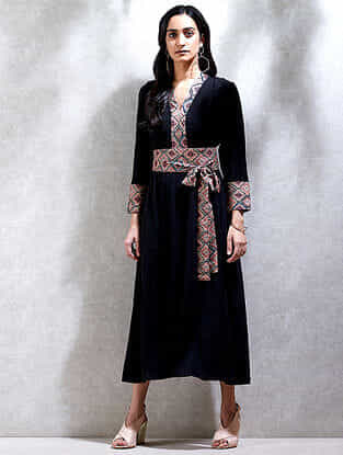 Black Crepe Kurta Dress