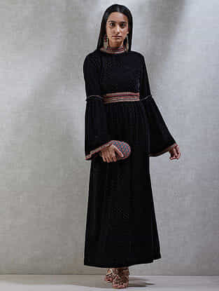 Black Velvet Kurta Dress
