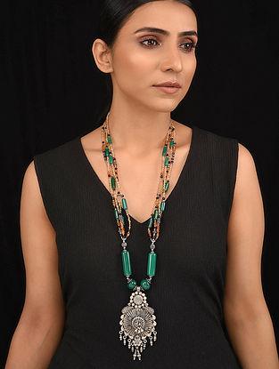 Multicolored Tribal Silver Necklace