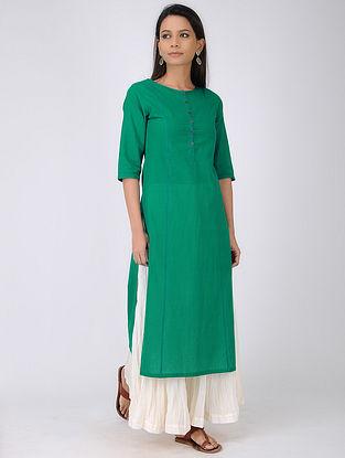 Green Handloom Mangalgiri Cotton Kurta