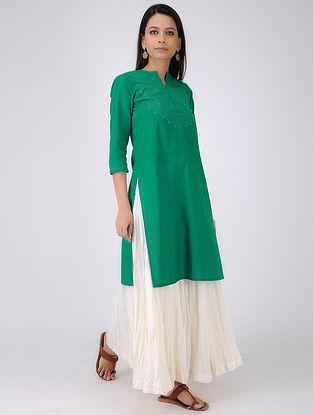 Green Handloom Kangri Quilted Cotton Kurta