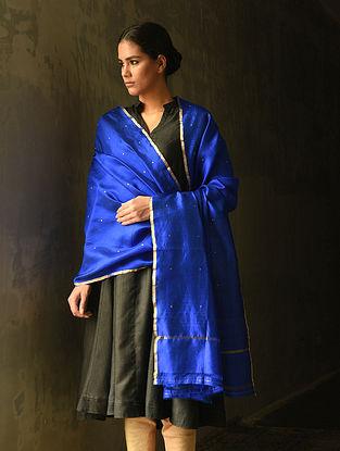 Blue Silk Dupatta with Zari