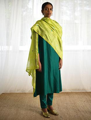 Lime Silk Dupatta