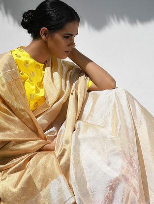 Ivory Silk Saree with Zari