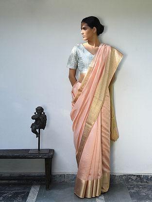 Pink Tissue Silk Saree with Zari