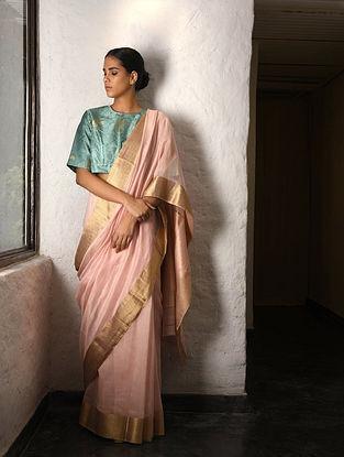 Pink Cotton Silk Saree with Zari