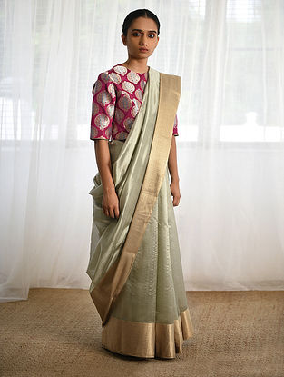 Pale Blue Silk Saree