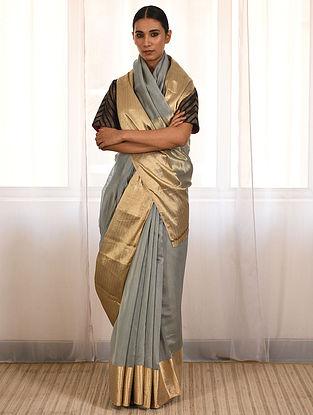 Grey Handwoven Cotton Silk Saree