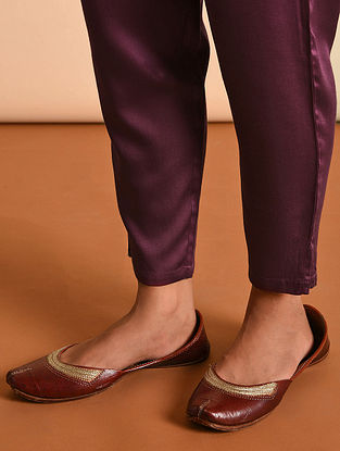 Purple Elasticated Waist Modal Pant