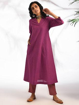 SAMRUDHI - Pink Cotton Kurta with Pockets