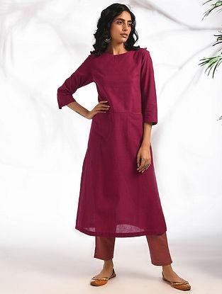 KAAMYA - Pink Cotton Kurta with Pockets