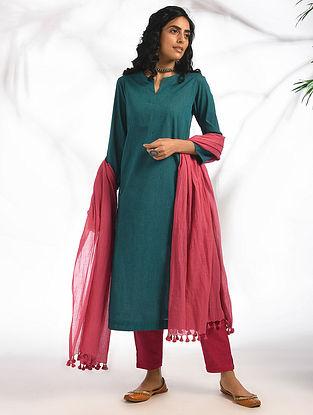 ADIRA - Teal Cotton Kurta with Pockets