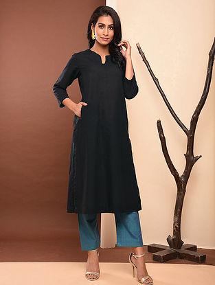 OSHI - Black Cotton Kurta with Pockets