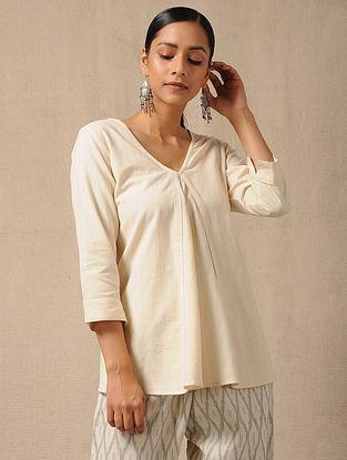 Ivory Handloom Cotton Top