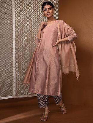 Pink Chanderi Kurta with Pintucks