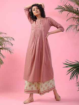 PARI MAHAL - Pink Cotton Kurta with Zari