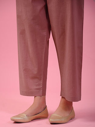 ACHABAL - Pink Tie-up Waist Cotton Pants
