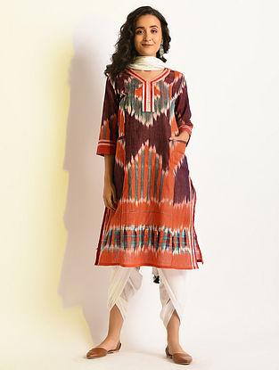 POLYCHROMATIC - Multicolor Handloom Cotton Kurta