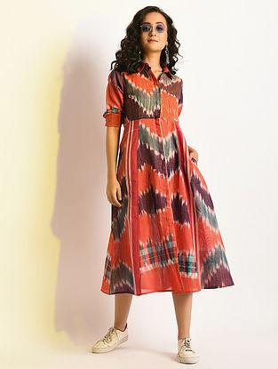 GLOW - Multicolor Button-down Handloom Cotton Dress