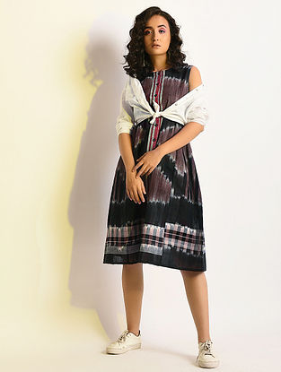 BRILLIANT - Multicolor Handloom Cotton Dress