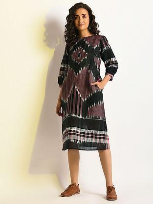 DAZZLING - Multicolor Handloom Cotton Dress with Pockets