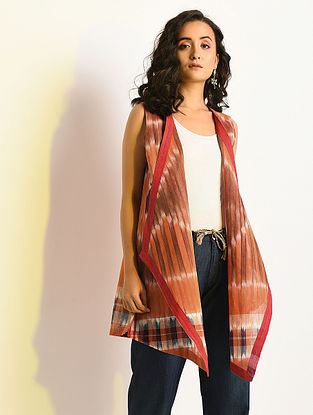 ILLUSION - Multicolor Handloom Cotton Cape