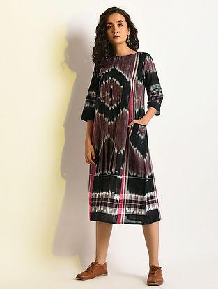 PHANTASM - Multicolor Handloom Cotton Dress with Pockets