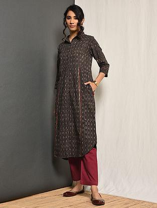 SABA - Grey Block-printed Cotton Kurta with Gota
