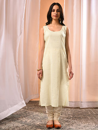 BARKHA - Ivory Cotton Slip