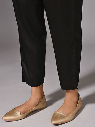ROHINI - Black Elasticated Waist Modal Pants