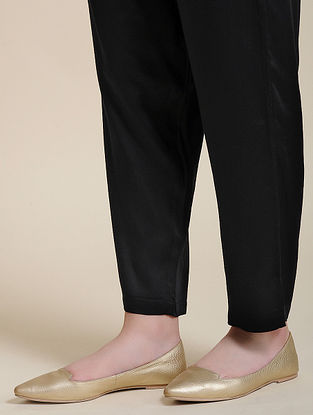 Black Elasticated Waist Modal Pants