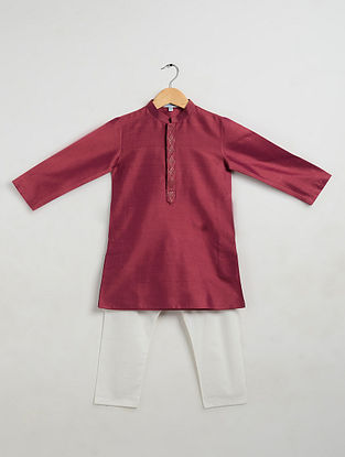 Purple Cotton Kurta-Pyjama (Set of 2)
