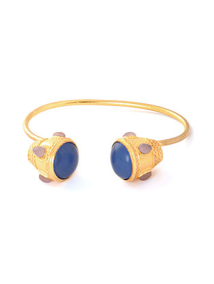 Blue Pink Gold Plated Bracelet